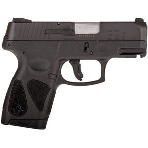 "Taurus G2S Slim .40 S&W Subcompact Semi Auto Pistol 3.20"" Barrel 6 Rounds Single Action with Restrike Night Sights Thumb Safety Polymer Frame Black Finish"