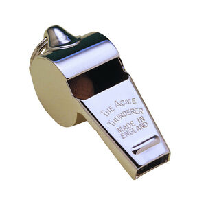C&D Sound ACME Whistle Nickel Thunderer-Bagged 60.5NP Polished Police Whistle Nickel Small 60.5NP