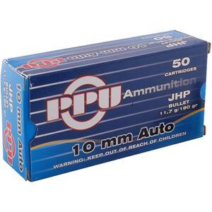 Prvi Partizan PPU 10mm Auto Ammunition 50 Rounds 180 Grain JHP 1082fps