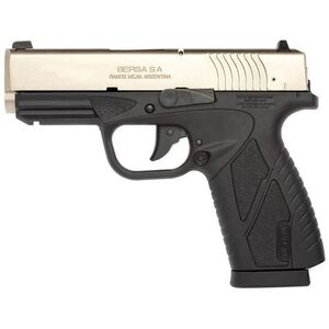 """Bersa BP Concealed Carry Semi Auto Pistol .380 ACP 3.3"""" Barrel 8 Rounds Black Polymer Frame Stainless Steel BP380DTCC"""