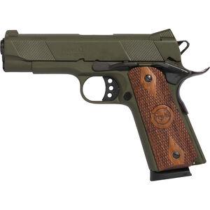 "Iver Johnson Hawk .45 ACP 1911 Commander Semi Auto Handgun  4.25"" Barrel 8 Rounds Series 70 Style Novak Sights Steel OD Green"
