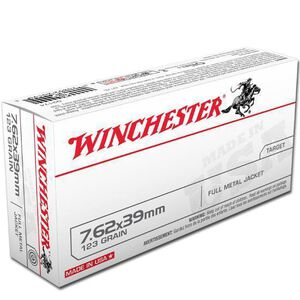 Winchester USA 7.62x39mm Ammunition 123 Grain FMJ 2355 fps