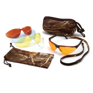 Pyramex Ducks Unlimited Multi Lens Safety Glasses Adjustable Nose Pad Temples Lens Pitch Microfiber Cleaning Bag DUCLAM1