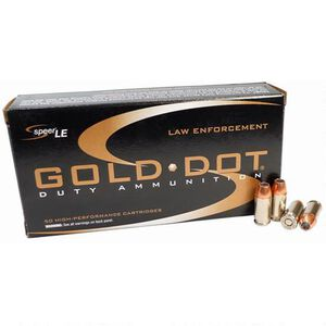 Speer LE Gold Dot 9mm Luger Ammunition 50 Rounds 124 Grain Gold Dot Hollow Point 1150fps