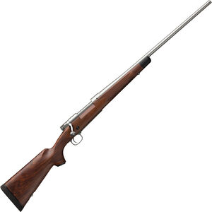"""Winchester Model 70 Super Grade Stainless .270 Win Bolt Action Rifle 24"""" Barrel 5 Rounds Adjustable Trigger Walnut Stock Matte Stainless Finish"""