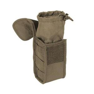 "Voodoo Tactical MOLLE Gas Mask/Utility Pouch 10"" x 6"" x 4"" Quick Release Latch Nylon Coyote 012007000"