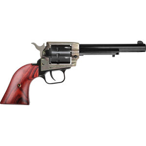 "Heritage Rough Rider .22 LR Single Action Rimfire Revolver 6.5"" Barrel 9 Rounds Cocobolo Wood Grips Case Hardened and Blued"