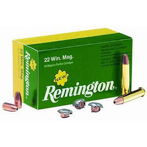 Remington .22 Magnum 40 Grain Jacketed Hollow Point 1910 fps 50 Rounds