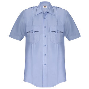 Elbeco Paragon Plus Men's Short Sleeve Shirt 2XL Polyester Cotton Blue