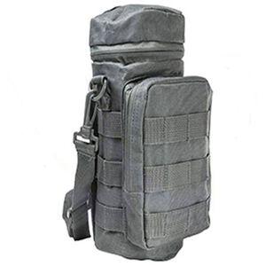 NcSTAR MOLLE Hydration Bottle Carrier Heavy Duty Nylon PVC Material Gray