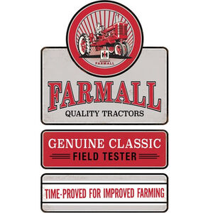"Open Road Brands ""Farmall"" Linked Embossed Tin Sign 11.4""x19"""