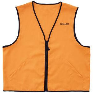 Allen Deluxe Blaze Orange Hunting Vest Large Standard Fit Heavy Duty Zipper Two Large Pockets Polyester High Visibility Orange