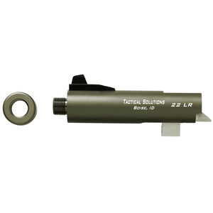 """Tactical Solutions Trail-Lite 4"""" Threaded Barrel .22 Long Rifle Browning Buckmark Series Pistol Frame OD Green"""