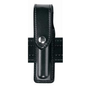 Safariland Model 308 Hand-Held Flashlight Holder Fits INOVA T3 Flashlight Hidden Snap Synthetic Leather Basket Weave Black