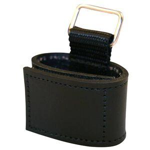 Boston Leather 9127 Glove Strap For Corrections Velcro Closure Leather Plain Finish Black 9127-1