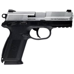 """FNH USA FNX-9 Semi Automatic Pistol 9mm Luger 4"""" Barrel 10 Rounds Polymer Frame Black with Stainless Slide 66838"""