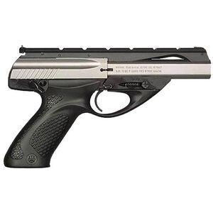 "Beretta U22 Neos .22 Long Rifle Semi Automatic Rimfire Pistol 4.5"" Barrel 10 Rounds Black Plastic Grips Satin Stainless Inox Finish"
