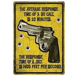 "River's Edge Products ""Average Response Time"" Sign Tin 12 by 17 Inches 1561"