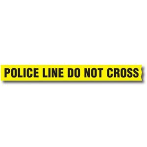 "Sirchie Barrier Tape Marked ""Police Line Do Not Cross"" 3"" Wide 1000' Long Roll Yellow and Black BT200"