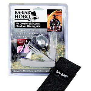 Hobo 3-in-1 Utensil Kit Stainless Steel Nylon Sheath
