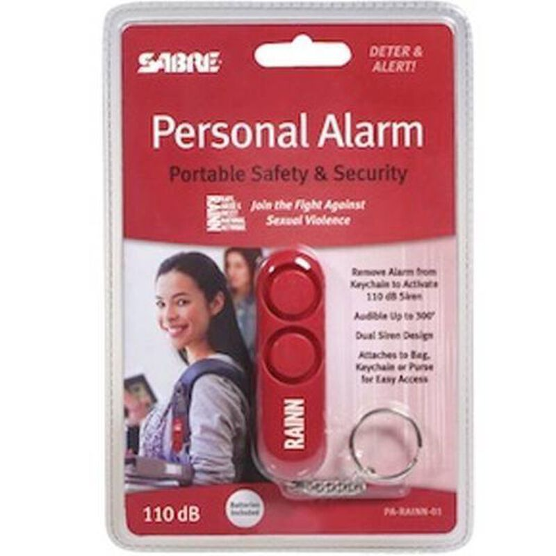 SABRE Personal Alarm With Key Chain Red PARAINN