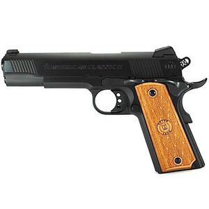 "American Classic II 1911 Government Semi Automatic Pistol 9mm Luger 5""Barrel 9 Round Capacity Hardwood Grips Blued Finish AC9G2B"