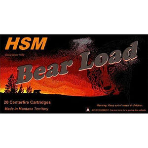 HSM Bear Load .41 Rem Mag Ammunition 20 Rounds 230 Grain SWC HC with Gas Check 1233fps