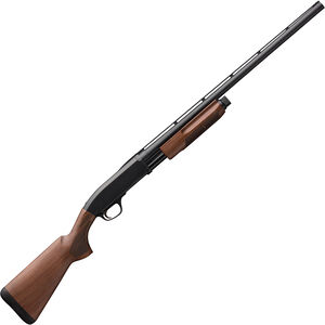 "Browning BPS Field 12 Gauge Pump Action Shotgun 26"" Barrel 3"" Chamber 4 Rounds Satin Walnut Stock Matte Blued Finish"