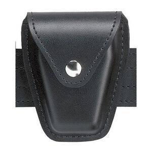 Safariland Model 190 Handcuff Case Chain Chrome Snap Plain Black