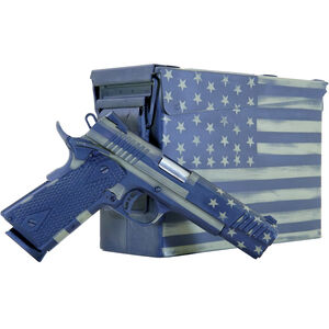 "Citadel M-1911 Government .45 ACP Full Sized 1911 Semi Auto Pistol 5"" Barrel 8 Rounds Black G10 Synthetic Grips US Flag Bazooka Green Battleworn Finish"