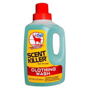 Wildlife Research Center Super Charged Scent Killer Liquid Clothing Wash 32 Ounce 546-33