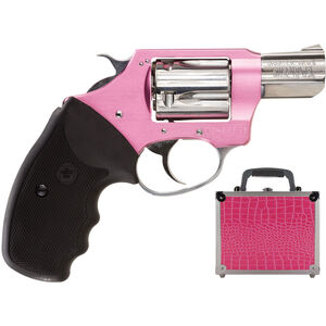"""Charter Arms Chic Lady Revolver .38 Special +P 2"""" Barrel 5 Rounds Alloy Frame Pink and Stainless Finish Black Rubber Grips with Pink Case 53839"""