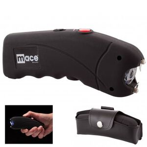 Mace Brand Stun Gun with LED Light 2,400,000 Volts Rechargeable Battery with Charging Plug Black 80323