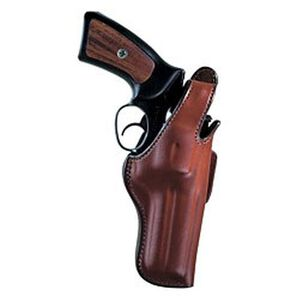 "Bianchi Thumbsnap Hip Holster Medium- & Large-Frame Revolvers 4"" Barrels Size 6 Right Hand Leather Tan"