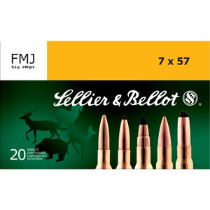 Sellier & Bellot 7x57mm Mauser Ammunition 20 Rounds FMJ 140 Grains SB757A