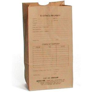 Sirchie Preprinted Kraft 5x9 Evidence Bag Set of 100