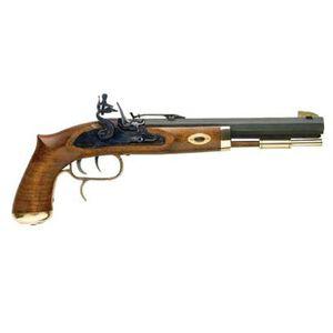 "Traditions Trapper Black Powder .50 Caliber Flintlock Pistol 9.75"" Barrel Adjustable Sights Select Hardwood Stock Blued P1090"
