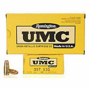 Remington  UMC .357 SIG Ammunition 50 Rounds FMJ 125 Grains