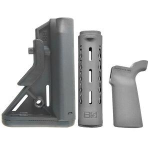 B5 Systems AR-15 Bravo SOPMOD Stock/Handguard/Grip Kit Polymer Wolf Gray BRS-206-01