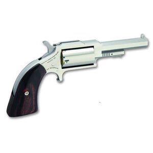 """NAA 1860 Sheriff Single Action Revolver .22 Mag .22 LR 2.5"""" Barrel 5 Rounds Wood Grips Stainless Finish NAA-1860-250C"""