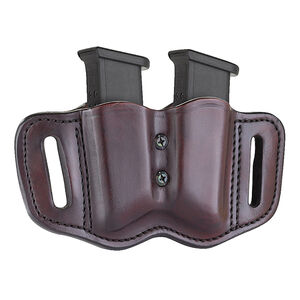 1791 Gunleather Double Stacked Polymer Magazine Double Magazine Pouch 2.2 OWB Ambidextrous Leather Signature Brown