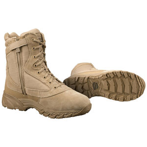 "Original S.W.A.T. Chase 9"" Tactical Side Zip Boot Nylon/Leather Size 8.5 Wide Tan 20-OS-131202W-85"