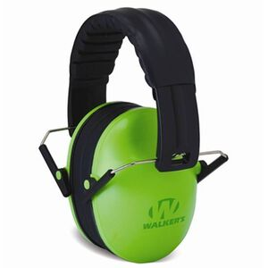 Walker's Game Ear Passive Baby/Kid Folding Earmuffs Lime