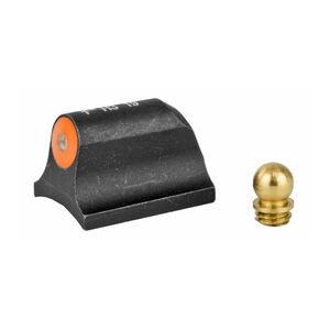 "XS Sight Systems Big Dot Tritium Orange Shotgun Requires 0.125"" to 0.140"" Diameter Bead With Mossberg Bead Front Sight Matte Black"