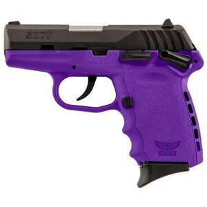 """SCCY Industries CPX-1 Semi Auto Handgun 9mm Luger 3.1"""" Barrel 10 Rounds Purple Polymer Frame with Black Nitride Finish CPX-1 CBPU"""