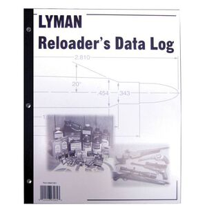 Lyman Reloader's Log Book 50 Pages