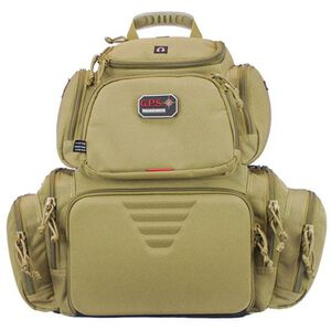 G Outdoors G.P.S. Handgunner Packpack Free Standing Waterproof Pull Out Cover Tan GPS-1711BPT