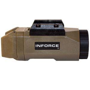 INFORCE APL LED Pistol Light 200 Lumen 1x CR123A Battery Ambidextrous Paddle Composite Body Flat Dark Earth INF-APL-F-W