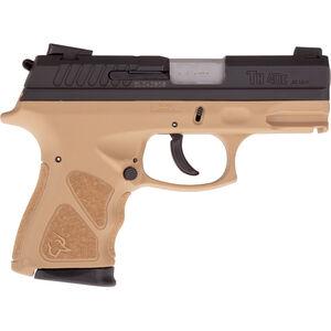 "Taurus TH40c .40 S&W Semi Auto Pistol 3.5"" Barrel 15 Rounds Thumb Safety Tan Polymer Frame Black Slide"