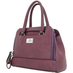"""Cameleon Belladonna Purse with Concealed Carry Gun Compartment 13""""x10""""x4"""" Synthetic Leather Wine"""
